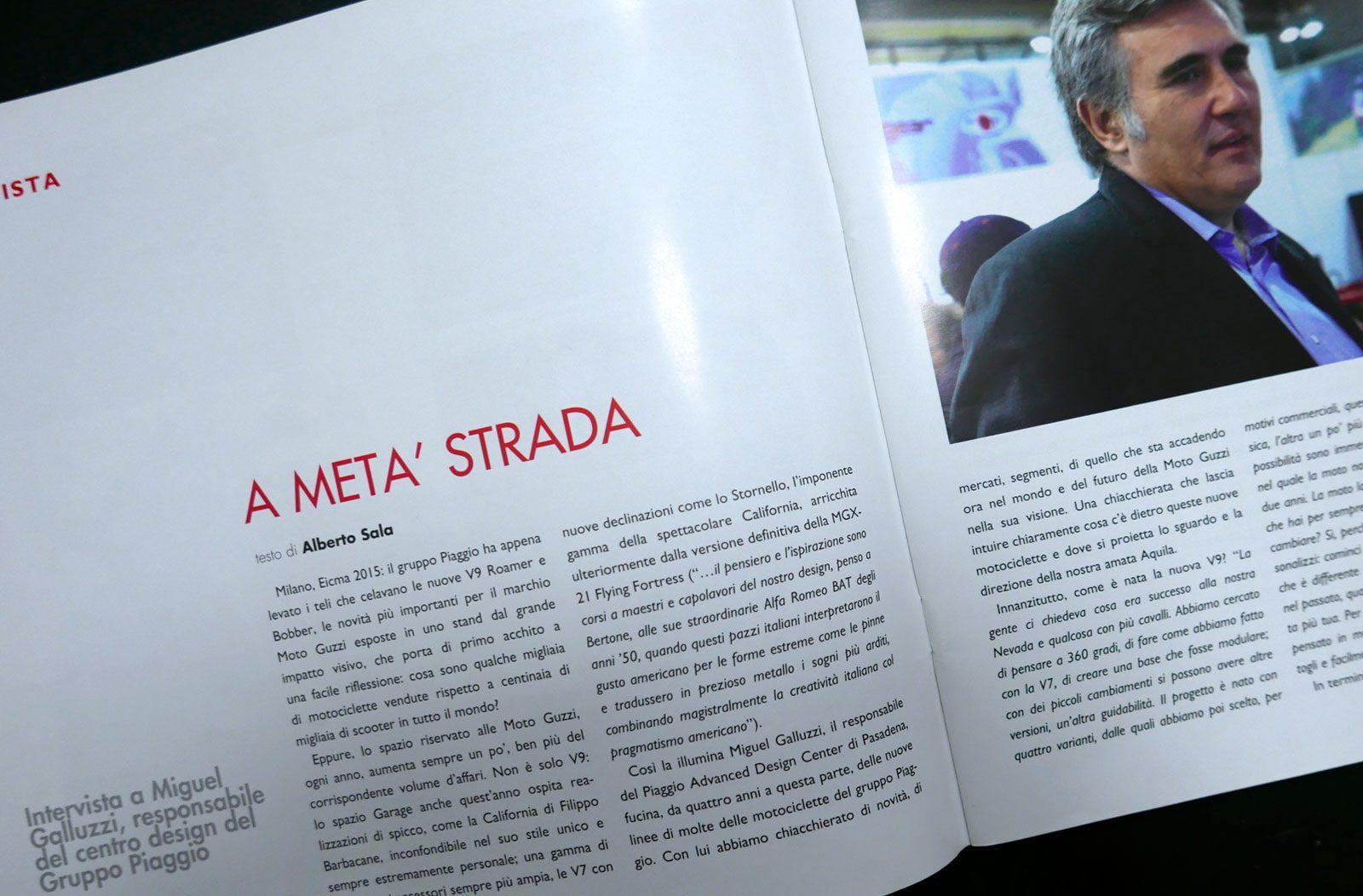 alberto sala writer intervista Michel Galluzzi bicilindrica