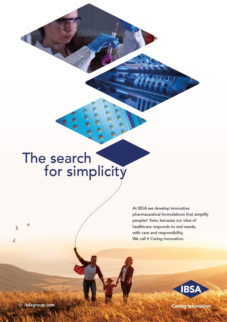 Alberto Sala Design IBSA corporate advertising