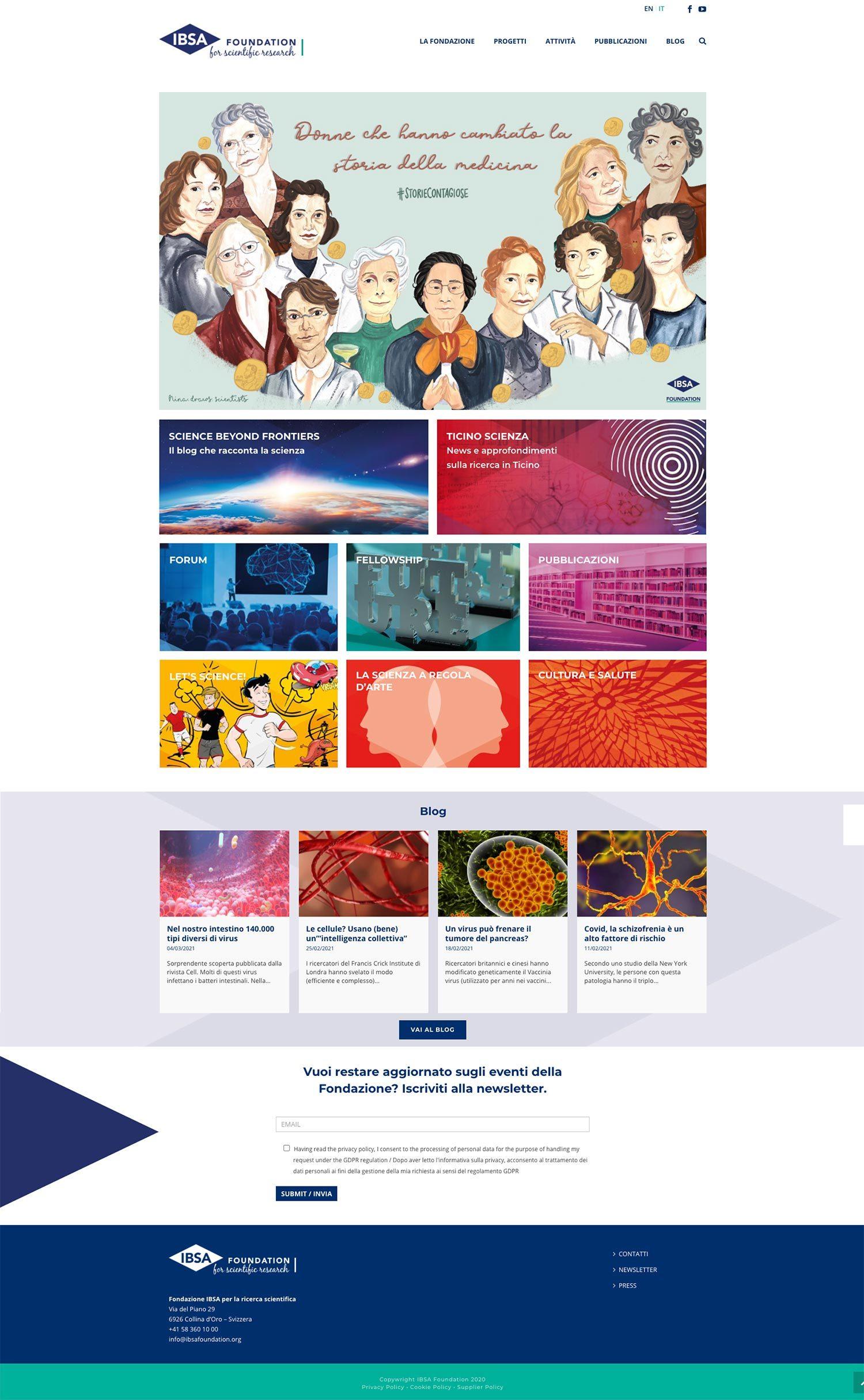 Alberto Sala Design IBSA Foundation website